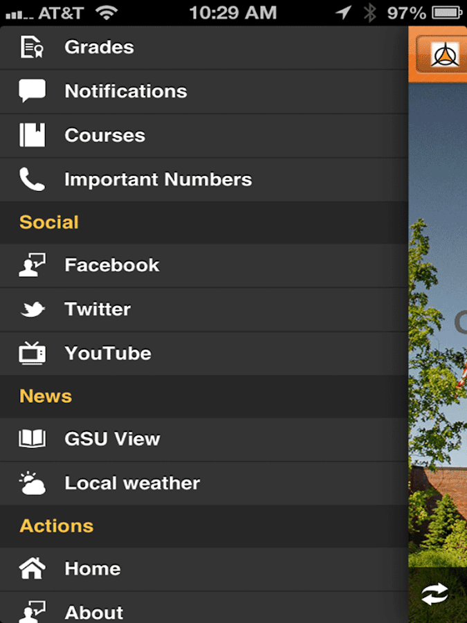 myGSU Mobile- screenshot