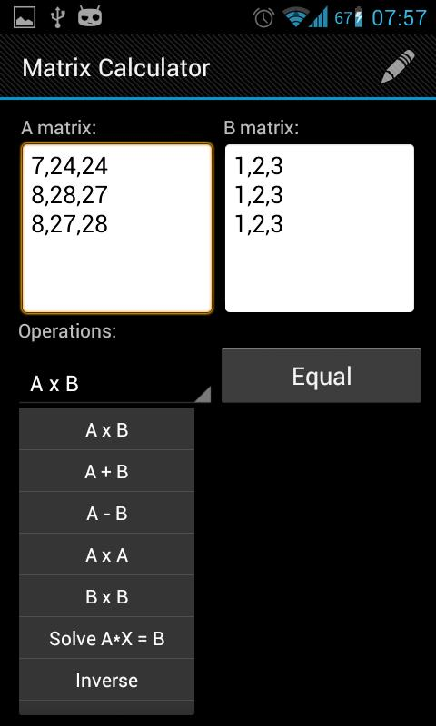 Matrix Calculator - screenshot