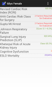 Preop Risk Assessment- screenshot thumbnail