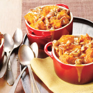 Spiced Caramel-Apple Bread Pudding.