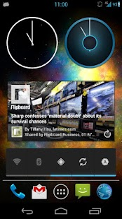 Nexus 4 Clock ICS Clock Widget - screenshot thumbnail