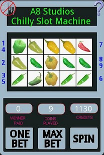 a8 chili slot machine lite screenshot