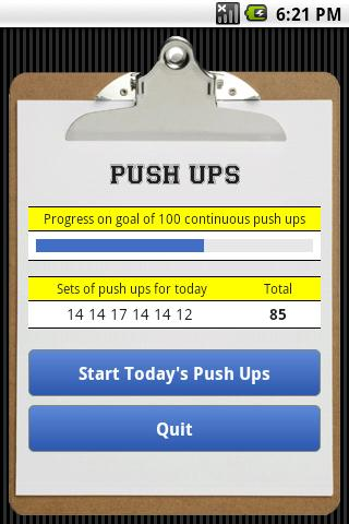Push Ups- screenshot