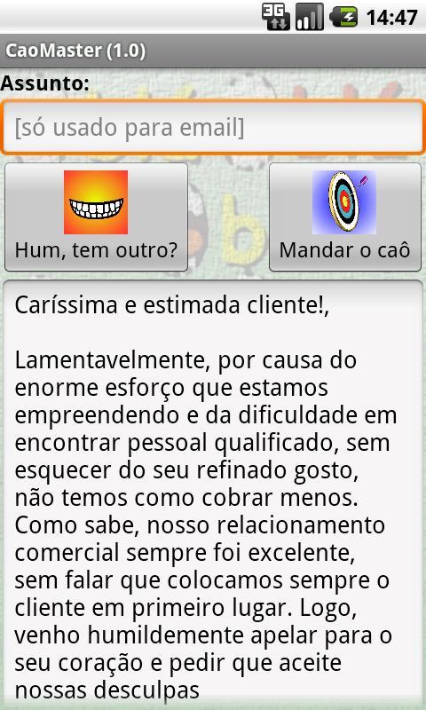 CaôMaster - gerador de caôs - screenshot