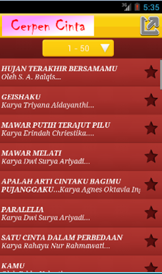 Kumpulan Cerpen Cinta - screenshot