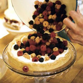 Raspberry Tart with Lemon Curd Whipped Cream.