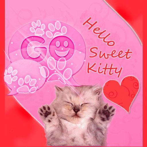 GO SMS Pink Theme Kitty Buy LOGO-APP點子