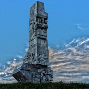 WESTERPLATTE by Morgentau ;) - Buildings & Architecture Statues & Monuments ( warrior, sculpture, soldier, winning, war soldier, monument, architecture, war,  )