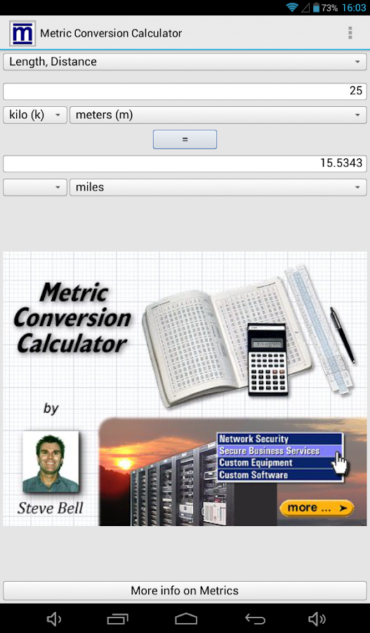 Metric Conversion Calculator- screenshot