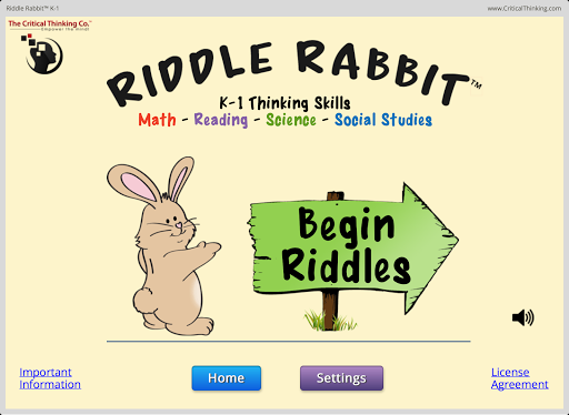 Riddle Rabbit™ K-1