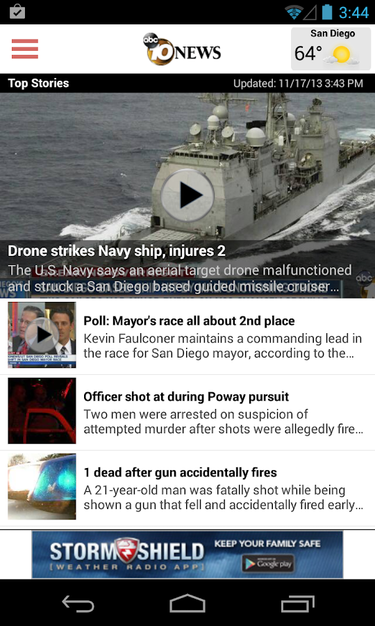10News San Diego- screenshot