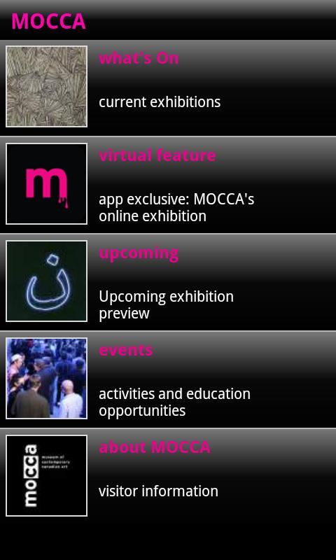 MOCCA, Toronto - screenshot