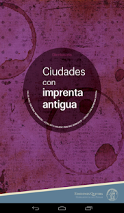Ciudades con imprenta antigua- screenshot thumbnail