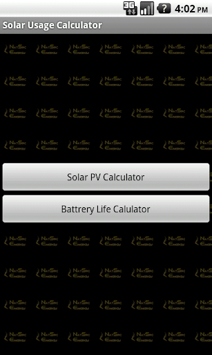 Solar Usage Calculator