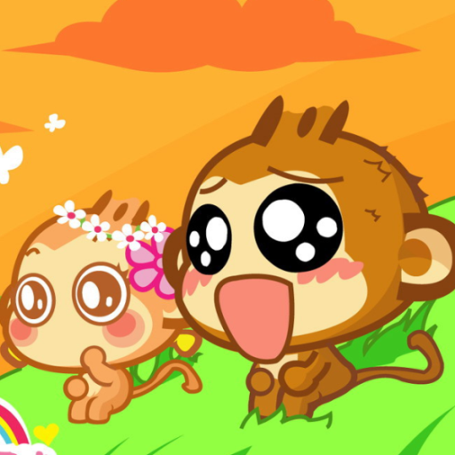 Cute Cartoon Monkey Wallpaper