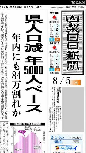 山梨日日新聞 紙面ビューアー