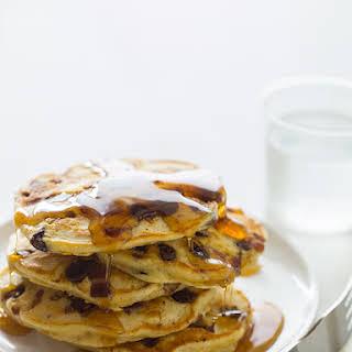 Chocolate Chip Bacon & Orange Kissed Pancakes.