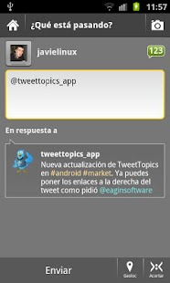 TweetTopics 1.0 (old version) - screenshot thumbnail