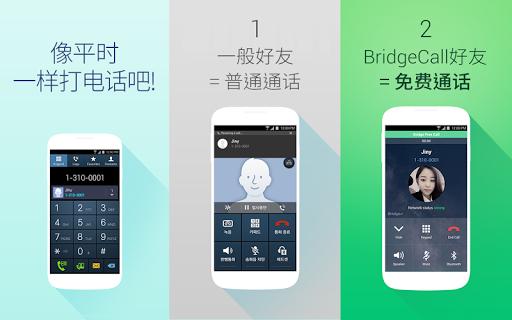 BridgeCall – 简便的免费通话
