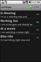 Screenshot of SwiftReply Lite