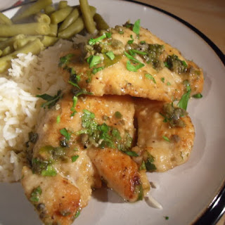 Chicken Escalopes with Lemon, Parsley and Capers Recipe
