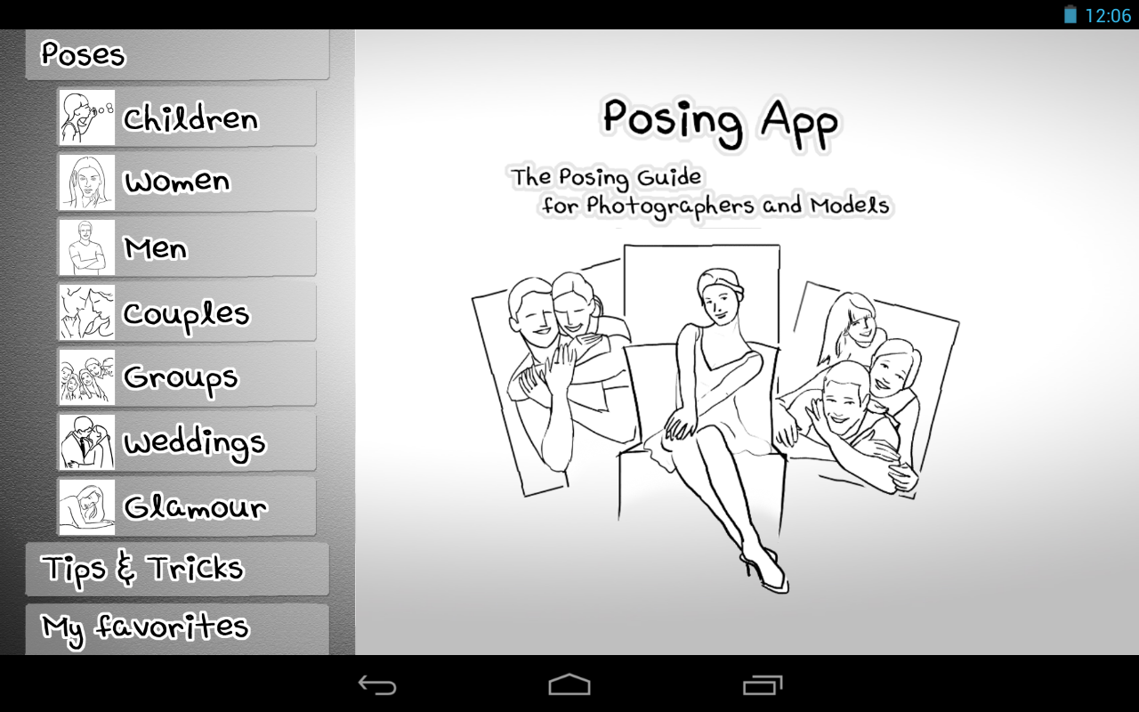 Posing App- screenshot