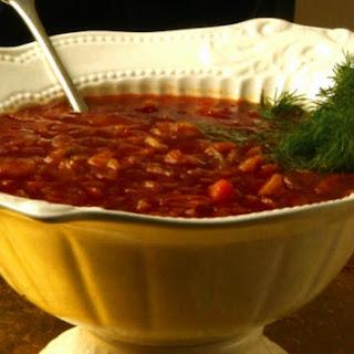 Sweet & Sour Cabbage Soup With Dill