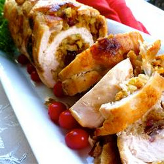 Cranberry Stuffed Turkey Breasts.