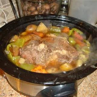 Garlic Top Sirloin Pot Roast.