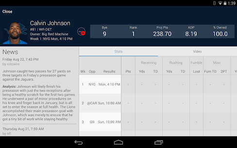 NFL Fantasy Football Apk Download 8