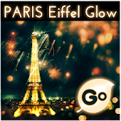 GO Keyboard Eiffel Paris Glow
