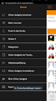 Screenshot of China Gadgets - Die Gadget App