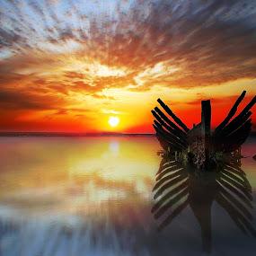 Shipwreck by Ade Irgha - Landscapes Sunsets & Sunrises ( clouds, explore bali, airimagebali.com, shipwreck, sunrise )