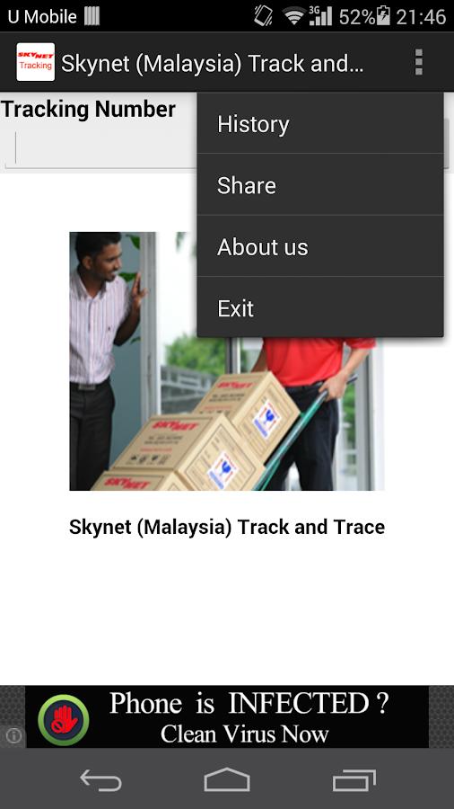 Skynet Malaysia Track & Trace - screenshot