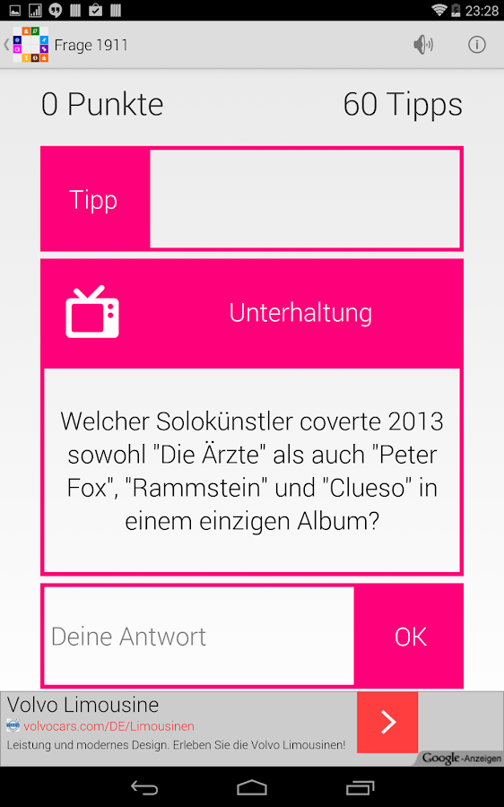 Quiz-Bingo | Freitext-Fragen- screenshot