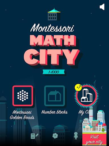モンテッソーリ算数シティ: 1 000までの数え方を