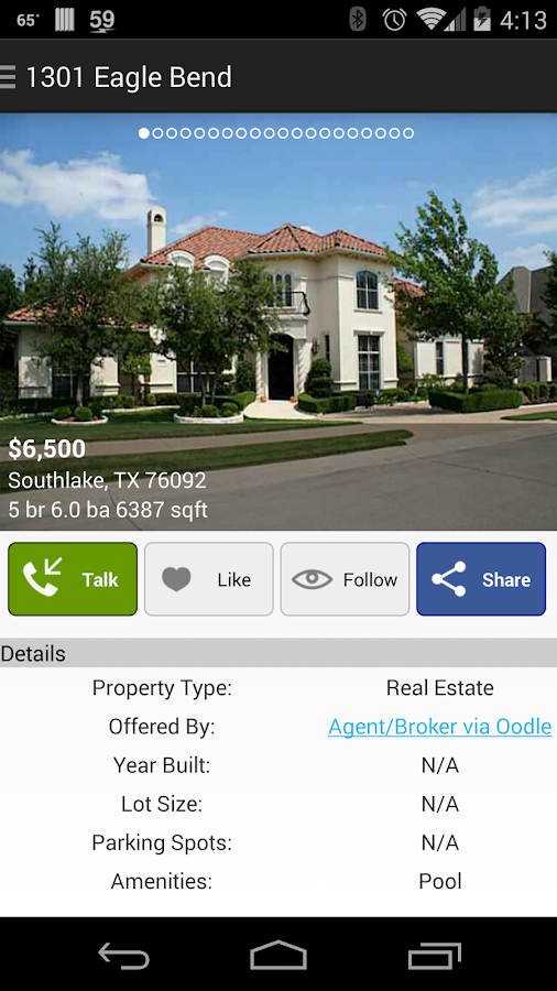 Real Estate Listings - screenshot