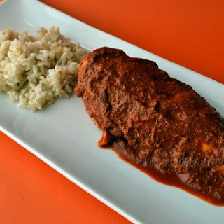 Chicken with Red Mole Sauce.