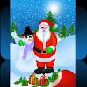 Santa With Snowman icon