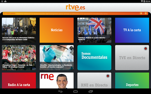 RTVE.es | Tableta- screenshot thumbnail