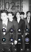 Screenshot of WINNER S/S LINE Launcher theme