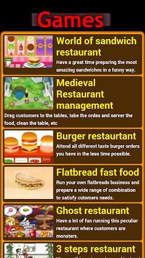 Restaurant cooking games