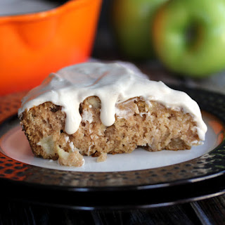Apple Skillet Cake with Maple Marscapone Glaze