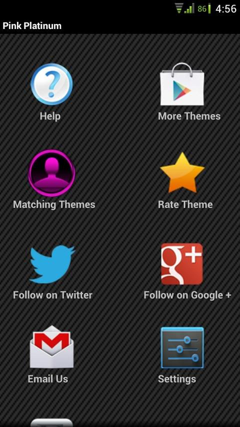 GO SMS Pink Platinum Theme - screenshot
