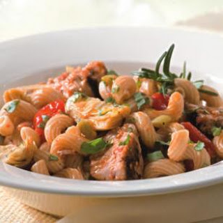 Tuna Pasta with Olives & Artichokes.