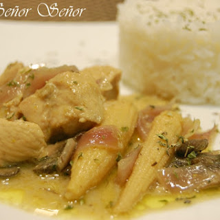 Green Curry Chicken with Vegetables.