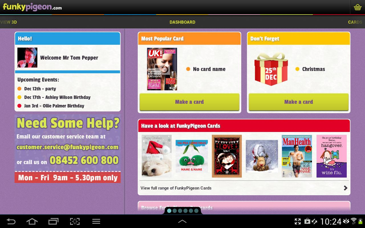 funky pigeon cards  gifts  android apps on google play
