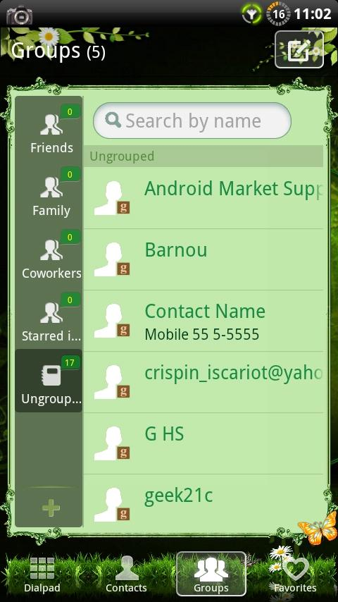 GOContacts theme Nature v2- screenshot
