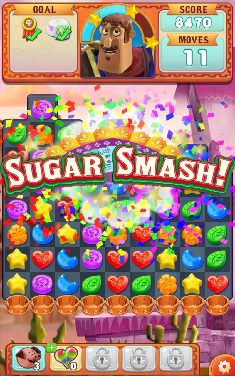Sugar Smash: Book of Life - Free Match 3 Games. Screenshot 17