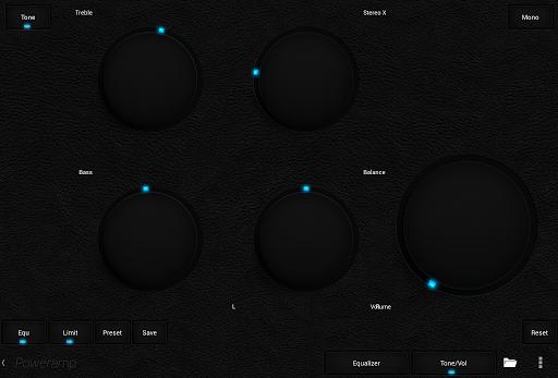 Skin for Poweramp Dark Leather  screenshots 8
